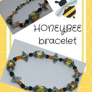 Jewelry - Honeybee inspired glass and metal bracelets